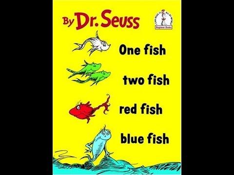 Libro para niños One Fish, two fish, red fish, blue fish de Dr. Seuss