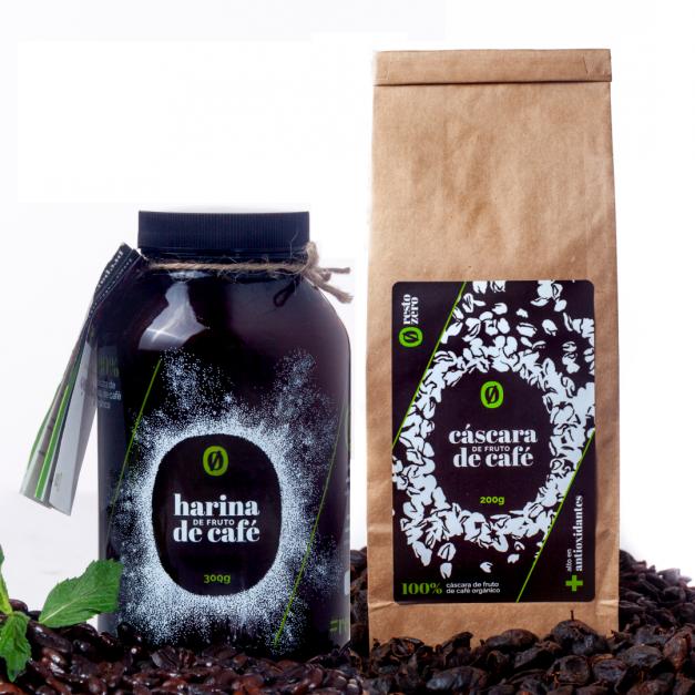 Pack degustación: Cáscara de fruto de café 200gr + Harina de fruto de café 300gr