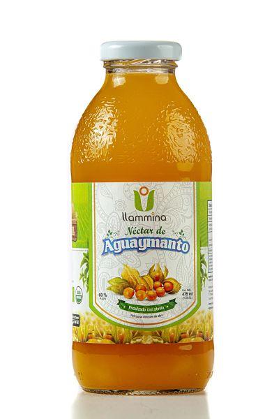 Néctar de Aguaymanto con Stevia LLAMINA 475 ml