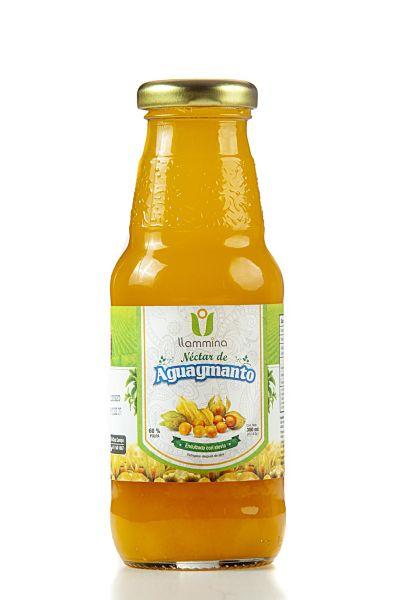 Néctar de Aguaymanto con Stevia LLAMINA 300 ml