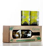 Juego de 4 vasos de botellas de vino recicladas