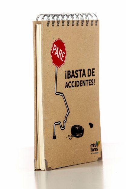 Libreta de cartón reciclado industrial serigrafiado. 100 uds.