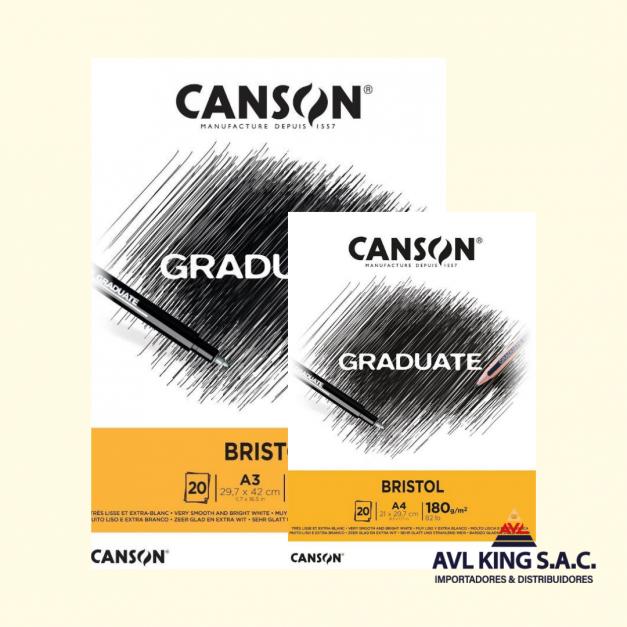 BLOCK CANSON BRISTOL D/180 GRS 20 HJS