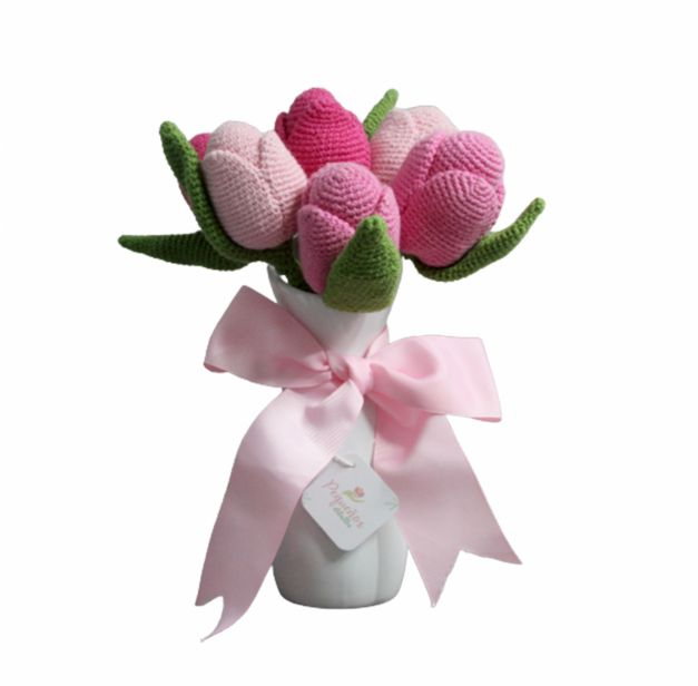 Florero ramo Tulipanes
