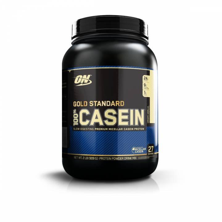 Gold Standard 100% Casein 2 Lb Creamy Vanilla - Optimum Nutrition