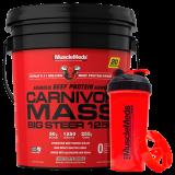 Carnivor Mass 15 Lb Chocolate Fudge + Shaker - Musclemeds