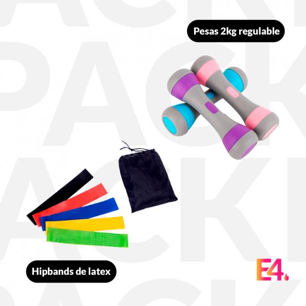 Pack Hipbands de latex + Pesas 2kg