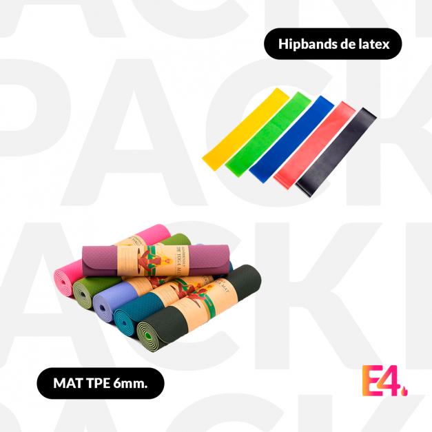 Pack Mat TPE 6mm. + Hipbands de latex