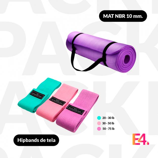 Pack Hipbands de tela + Mat NBR 10mm.