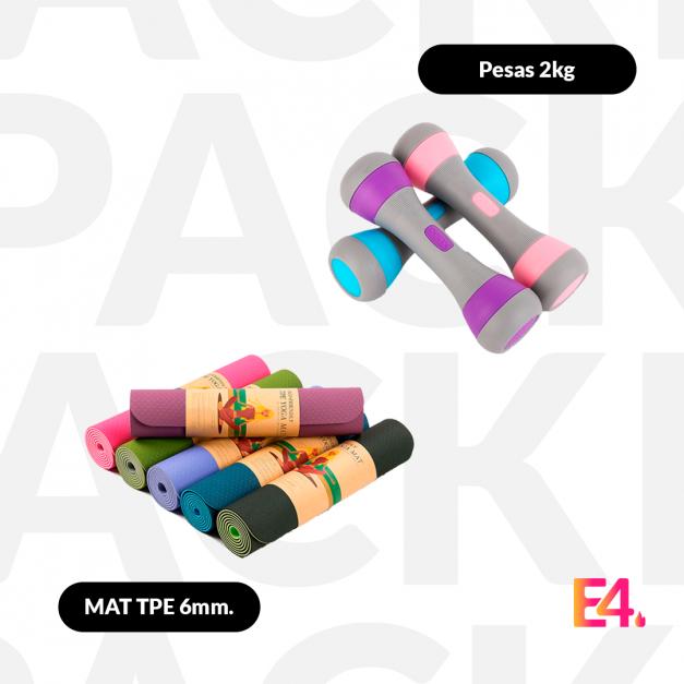 Pack Mat TPE 6mm. + Pesas 2 kg